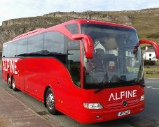An Alpine Travel coach at the Orme