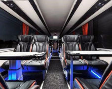 Clarkes of London coach interior