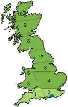 Worthing location and area covered